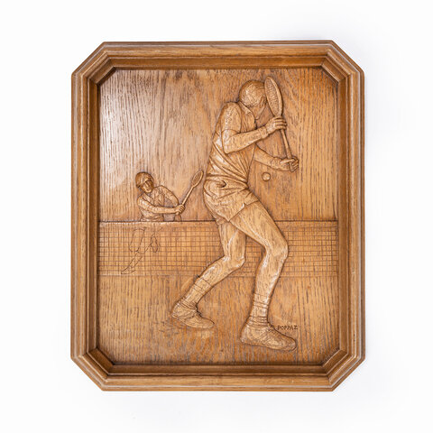 "Wooden sculpture ""Tennis"""